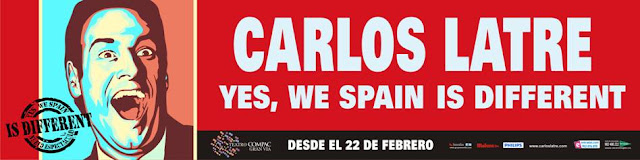 Carlos Latre 'Yes We Spain Is Different' en el teatro Compac de Gran Vía