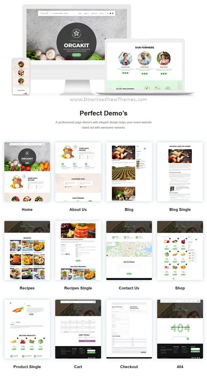Organic Farm Website Template