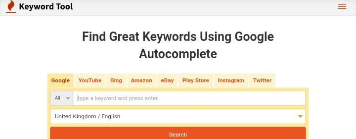 keywordtool.io keyword research tools