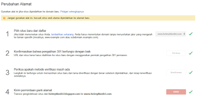Hal yang dilakukan setelah ganti domain blog