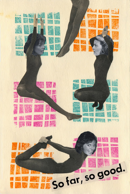 Collage from vintage yoga book