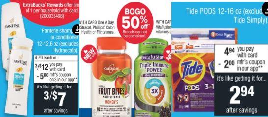 One A Day Vitamin CVS Deals 8-9-8-15