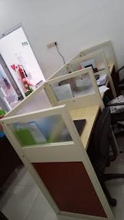 Meja Partisi Kantor 5 staff