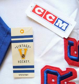 NHL CCM Vintage Hockey jersey hangtag