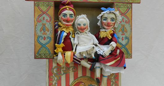 Punch and Judy theater set