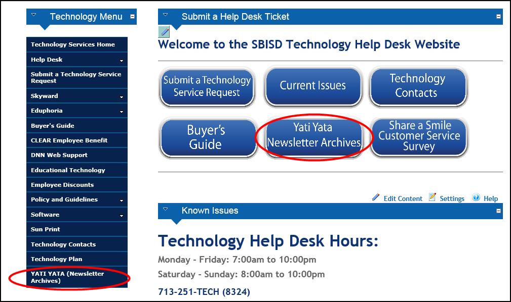 Yati Yata Archives Sbisd Technology Services Newsletter