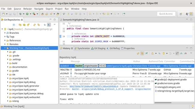 Eclipse IDE layout