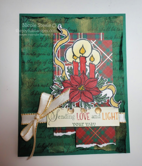 God's Peace Christmas card for Splitcoaststampers Sketch Challenege 778