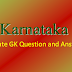 Karnataka State General Knowledge (GK) Question and Answer