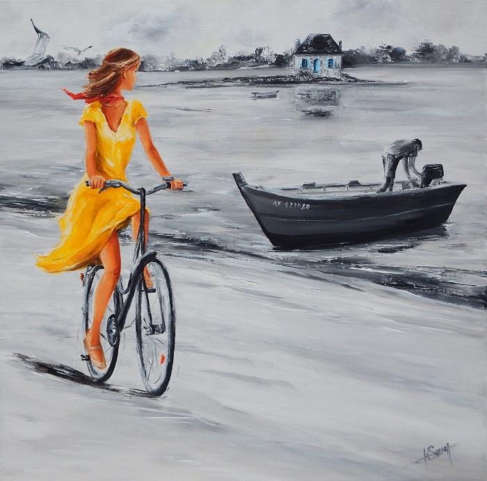 Женщина в желтом.