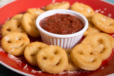 Potato Smiley And Barbeque Sauce