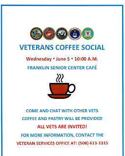 Franklin Senior Center: Veterans Coffee Social - June 5