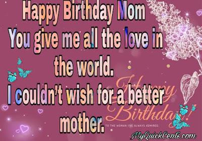 Happy birthday to mom