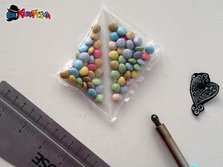 bustina con confetti realizzata con fuse
