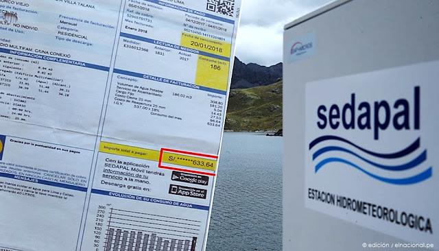 Sedapal suspende cortes de agua y recibo de marzo de fraccionará en doce meses