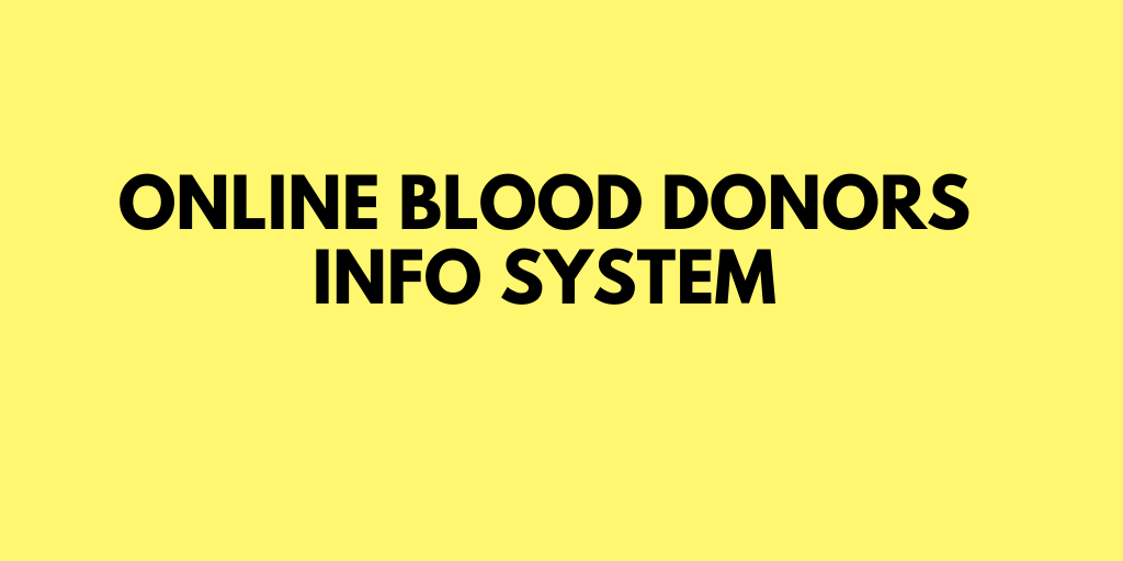 Online blood donors info system