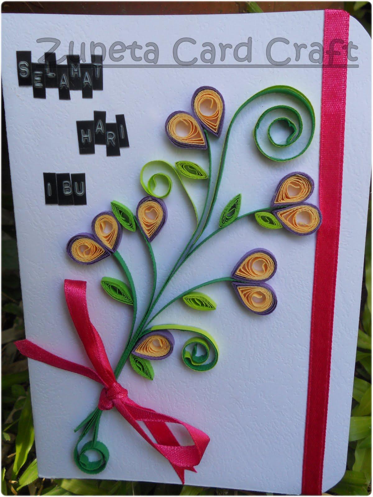 Zuneta Card Craft Kad 024 Selamat Hari Ibu