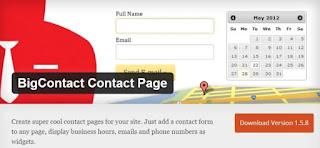 Big contact contact page - плагин wordpress обратная связь