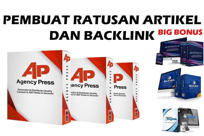 Pembuat Ratusan Artikel Backlink dan lainnya