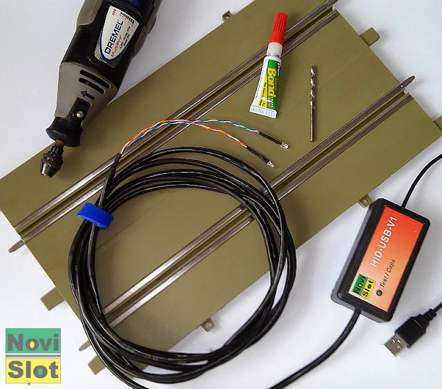 Montagem dos sensores ópticos na pista