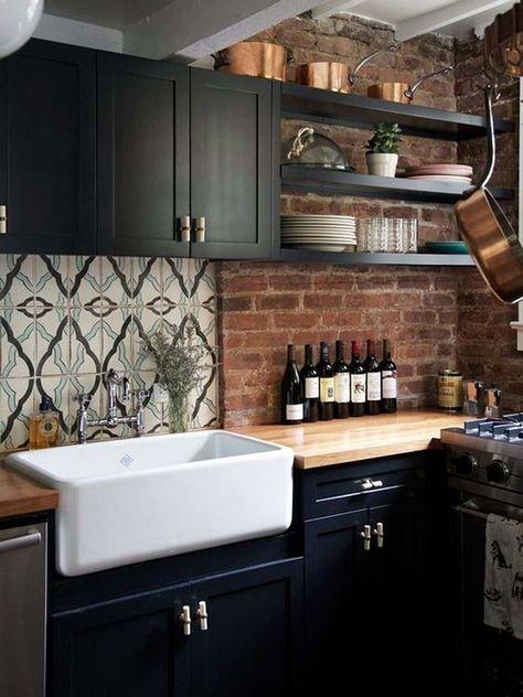 25 Cozinhas com armários pretos