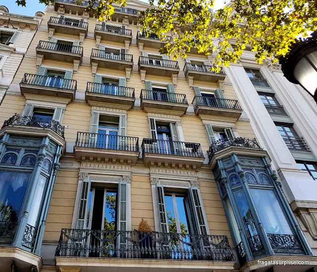 Fachada de um edifício no Passeig de Gràcia, em Barcelona