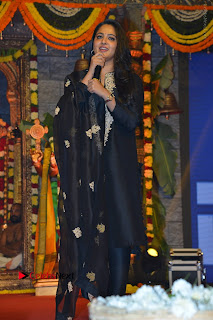 Actress Anushka Anushka Shetty Stills in Black Salwar Kameez at Om Namo Venkatesaya Audio Launch Event  0052.JPG