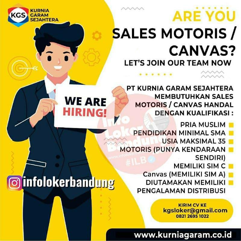 Lowongan Kerja PT. Kurnia Garam Sejahtera Bandung November 2020