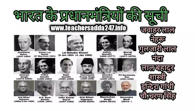भारत के प्रधानमंत्रियों की सूची | List of Prime Minister of India pdf