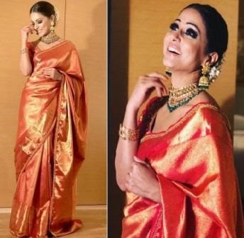 @instamag.in - hina-khan-stuns-in-silk-sari-at-dubai-fashion-league