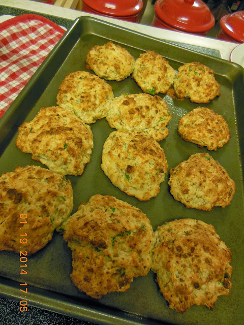 Easy Drop Style Blue Cheese Biscuits.
