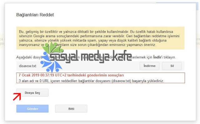 Google Disavow Link Redetme Aracı