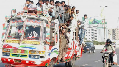 New bus Service launch in Pakistan
