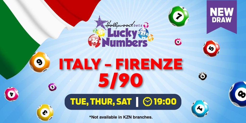 Italy - Firenze Lotto 5/90 - Lucky Numbers - Hollywoodbets