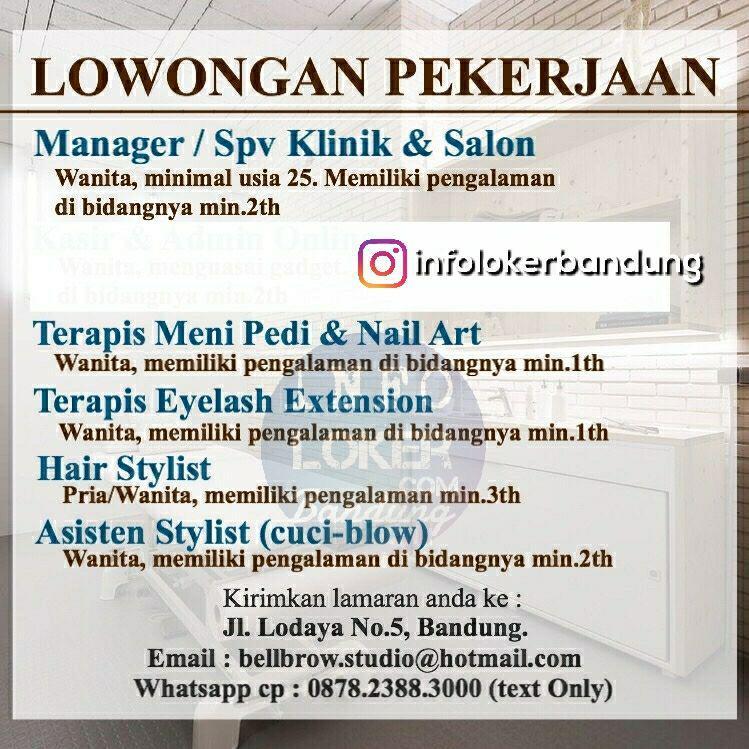 Lowongan Kerja Bellbrow Studio Bandung Juli 2018