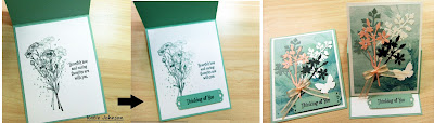 Easel card made with layered dies using Stampin'Up'!s Quiet Meadow Dies