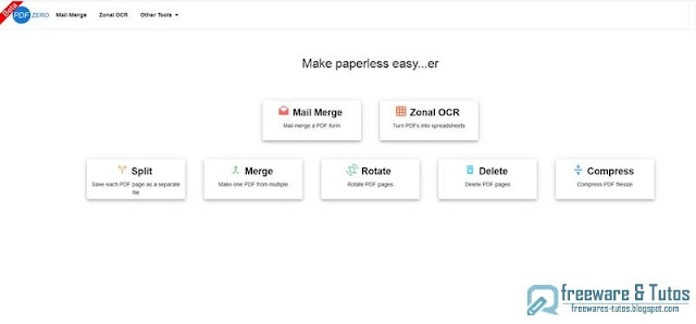 PDFZero : un outil en ligne pour éditer facilement vos PDF