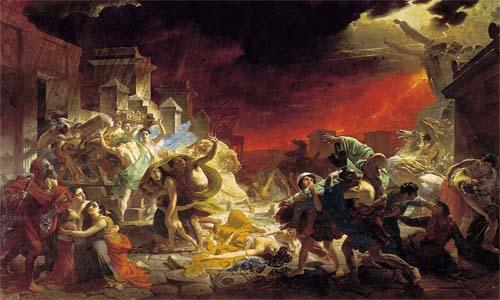 Erupción del monte Vesubio en el año 79