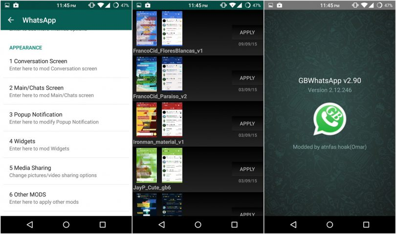 GBWhatsApp: Customize your WhatsApp more and hide yourself from your contacts