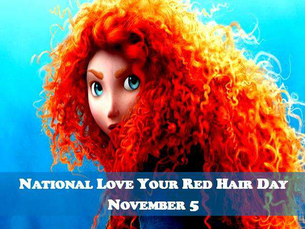 National Love Your Red Hair Day Wishes Images download