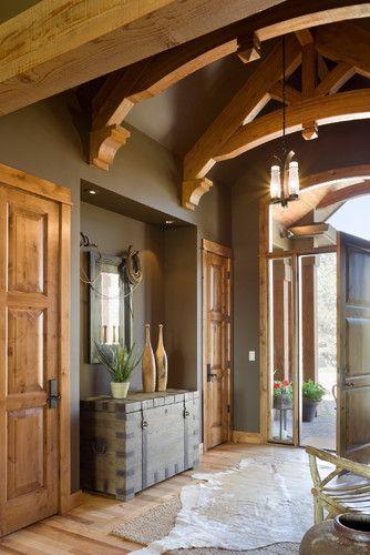 image result for alder wood interior doors chalet rustic craftsman house