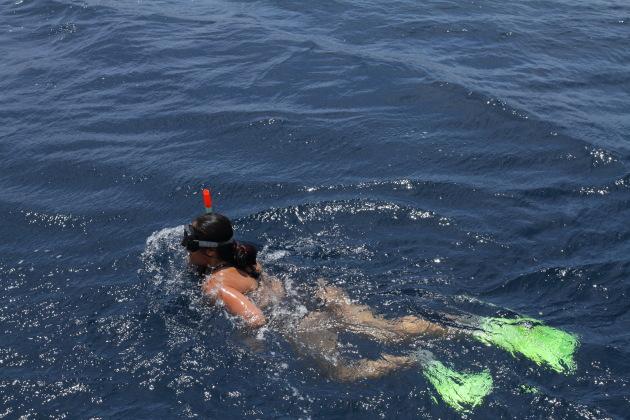 Snorkeling in the azure waters of Aqaba, Jordan