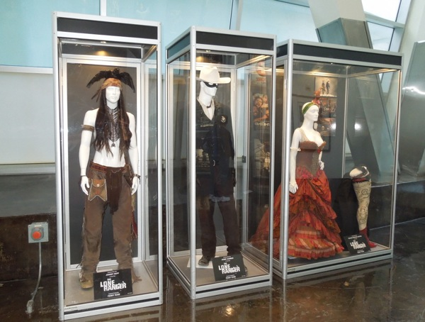 Lone Ranger movie costume exhibit