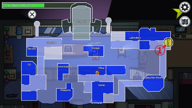Decontamination(除染室)のタスク一覧マップ説明画像