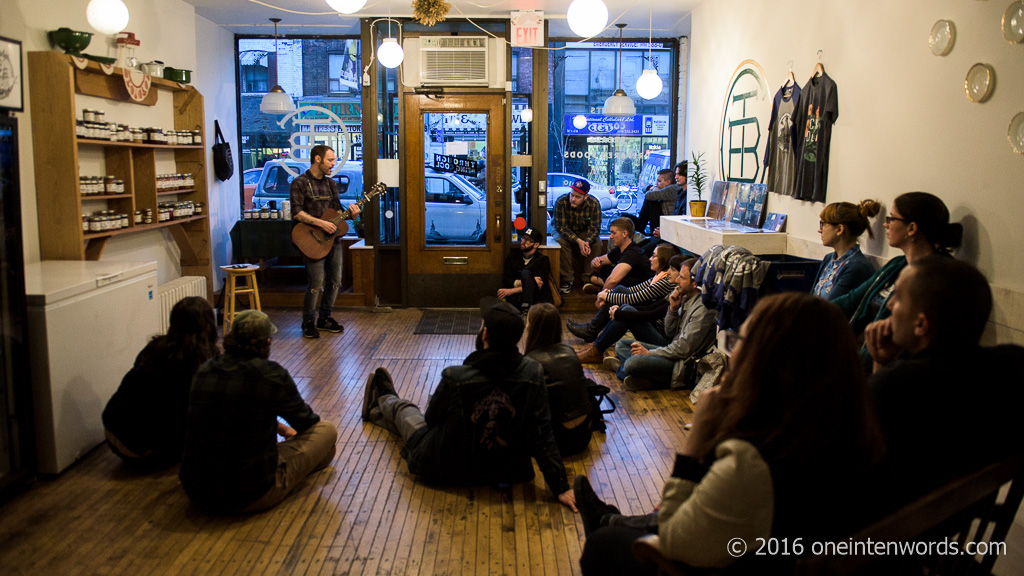 living room concerts. Rocky Votolato Living Room Concert at Through Being Cool vegan bakery in  Toronto April 20 one ten words
