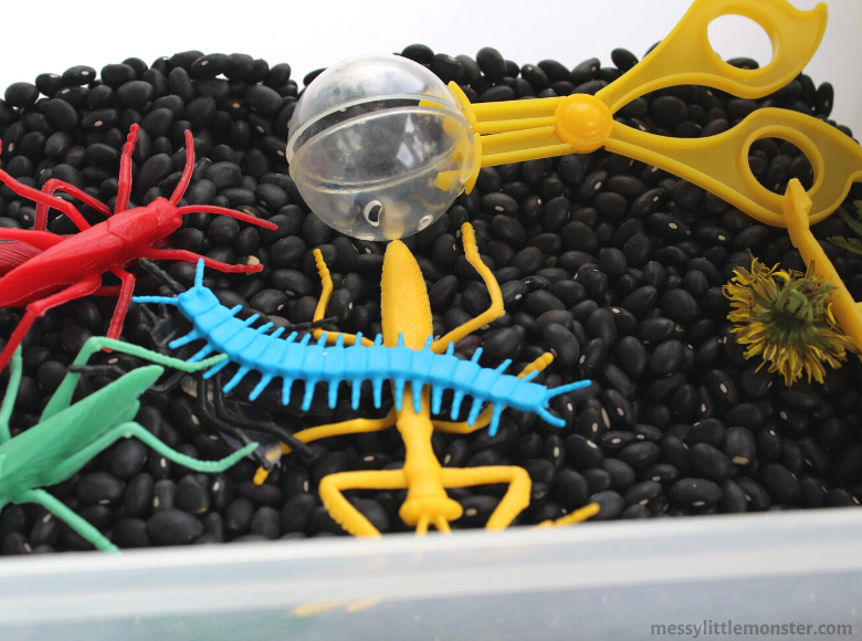 bug sensory bin for toddlers