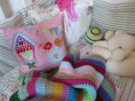 mantita cuna bebe deco - Mantas para bebe tejidas a crochet para la cuna
