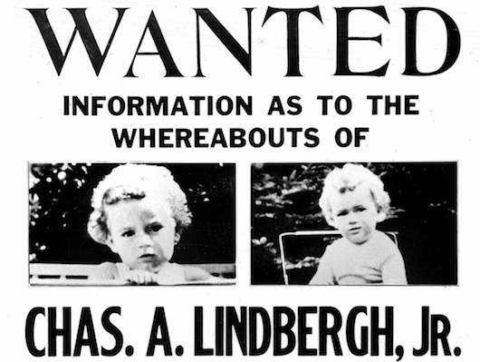 the story made headlines exactly about the globe Lindbergh Baby Kidnapping