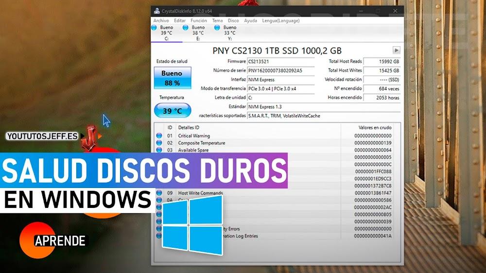 Como Ver SALUD de mi DISCO DURO en Windows | CrystalDiskInfo