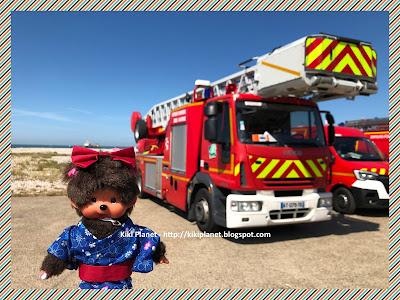 kiki monchhichi pompier Le Havre grande échelle urgence secours camions